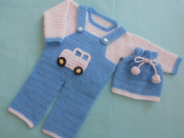 48c8c3ab0c18 Crochet - Crosia Free Patttern with Video Tutorials  Boy Romper Set