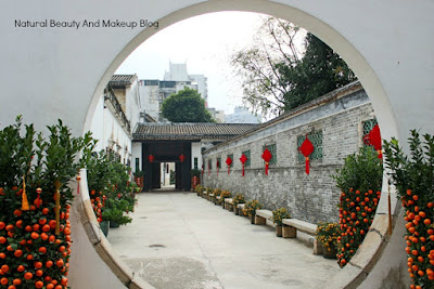 The circle gate of  Mandarin's House, a heritage centre of Macau