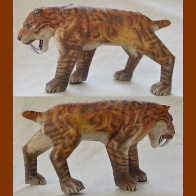 Saber-toothed Tiger Paper Model