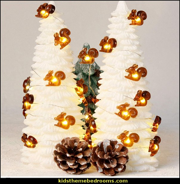 Christmas Squirrel  string Lights  Rustic Christmas  decorating ideas - rustic Christmas decorations  - Vintage  -  Rustic  - Country style Christmas decorating -  rustic Christmas decor - Christmas stockings - vintage rustic christmas decorations  Rustic Glam Vintage Christmas decor -  Rustic Country Vintage christmas tree ideas - Christmas stockings