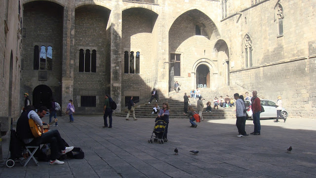 Plaça del Rei, plaza real en el Barrio Gótico