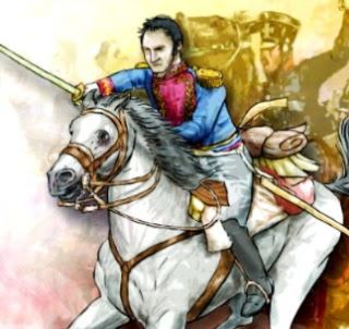 Ilustración de la Batalla de Junín a colores