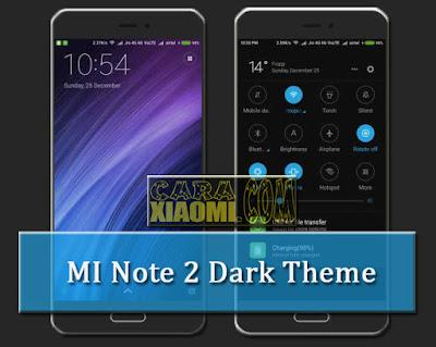 MIUI Theme MI Note 2 Dark Version Fix Update