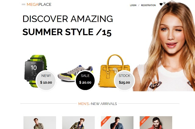 MEGAPLACE – New Amazing E-commerce Theme