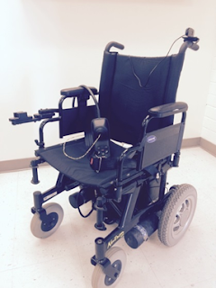 The following wheelchair developed by USU students.