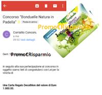 Logo Bonduelle: gioca e vince Card Decathlon da 1.000 euro! prova anche tu.