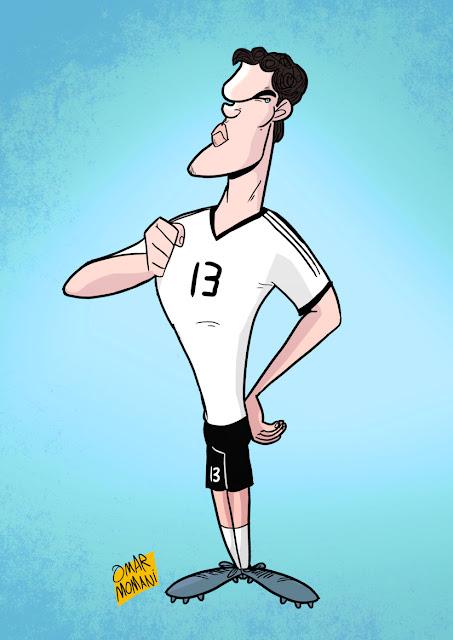 Michael Ballack cartoon caricature