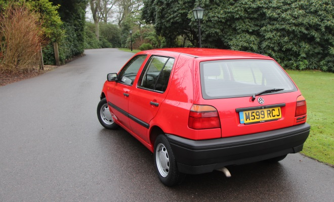 1994 VW Golf Ecomatic rear view