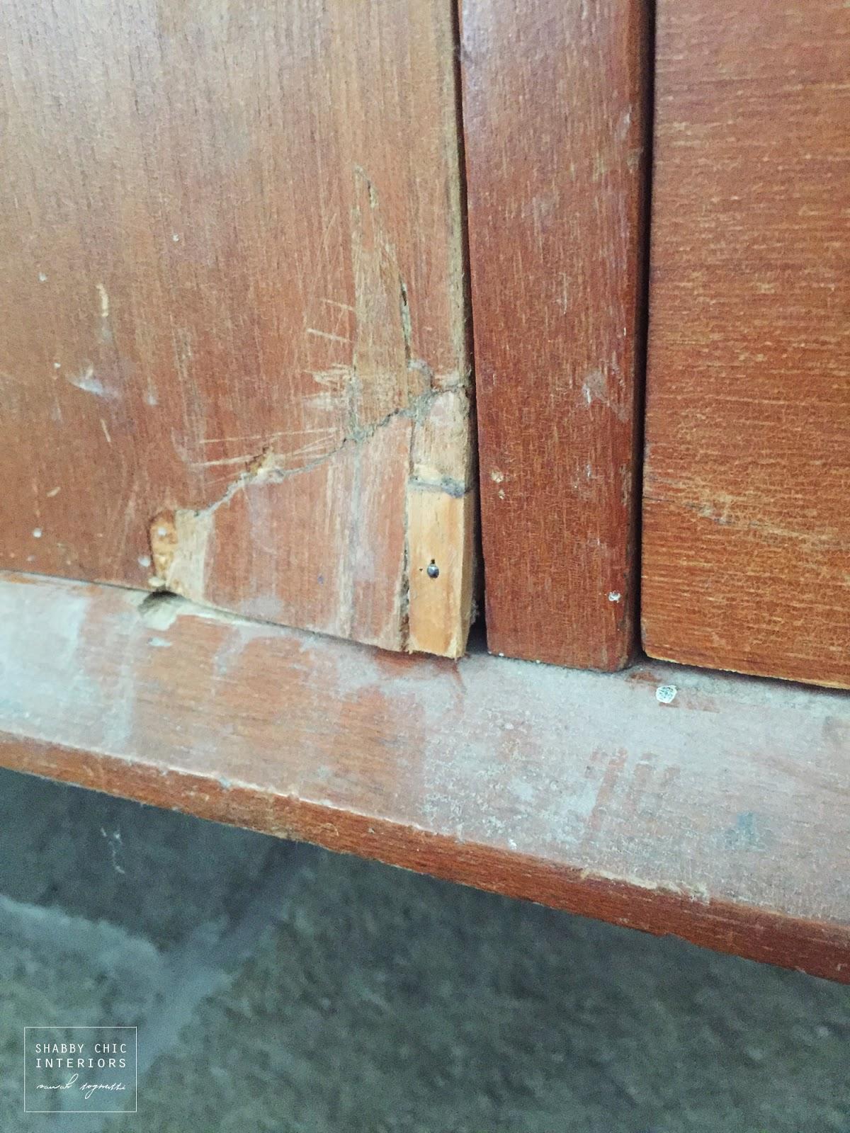 Il restauro di un mobile shabby chic interiors - Come restaurare un mobile impiallacciato ...