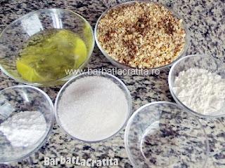 Pricomigdale (fursecuri cu nuca) ingredientele retetei