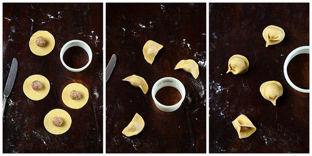 Comment réaliser les ravioli : astuces et photos pas à pas. Cappelletti