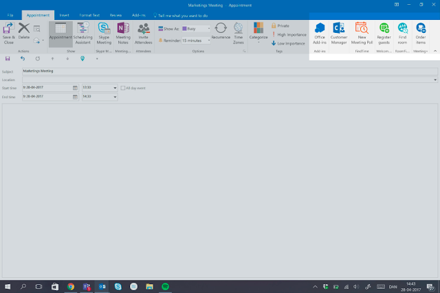 Access all the AskCody Add-ins directly in the top ribbon in Outlook