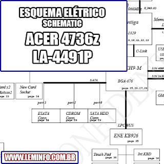 Esquema Elétrico Notebook Laptop ACER 4736z LA-4491P Manual de Serviço  Service Manual schematic Diagram Notebook Laptop ACER 4736z LA-4491P    Esquematico Notebook Laptop ACER 4736z LA-4491P