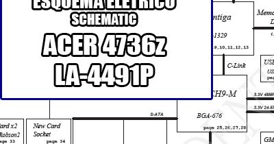 Esquema Elétrico Notebook Laptop ACER 4736z LA-4491P