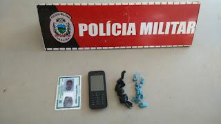 Policiais Militares da 3Cia/7BPM capturam elementos por tráfico em Sapé