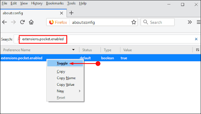 Methods to Disable Pocket in Firefox 57