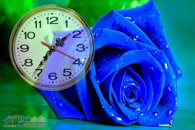 tranh gắn đồng hồ