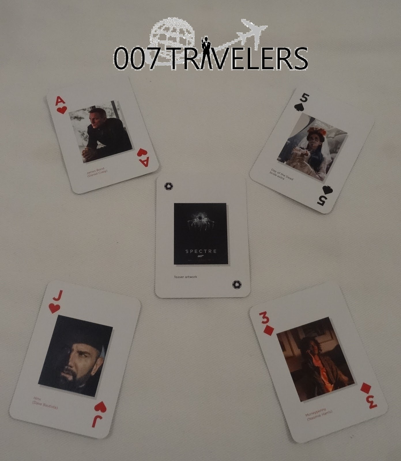 007 Travelers 007 Item 007 Playing Cards Spectre 007