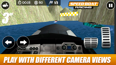 لعبة speed boat racing مكركة، لعبة speed boat racing مود فري شوبينغ