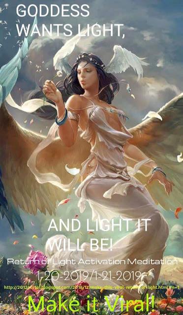 Медитация - Активация «Возвращение Света» 01-21-2019 (8:11 МСК) Goddesslight1