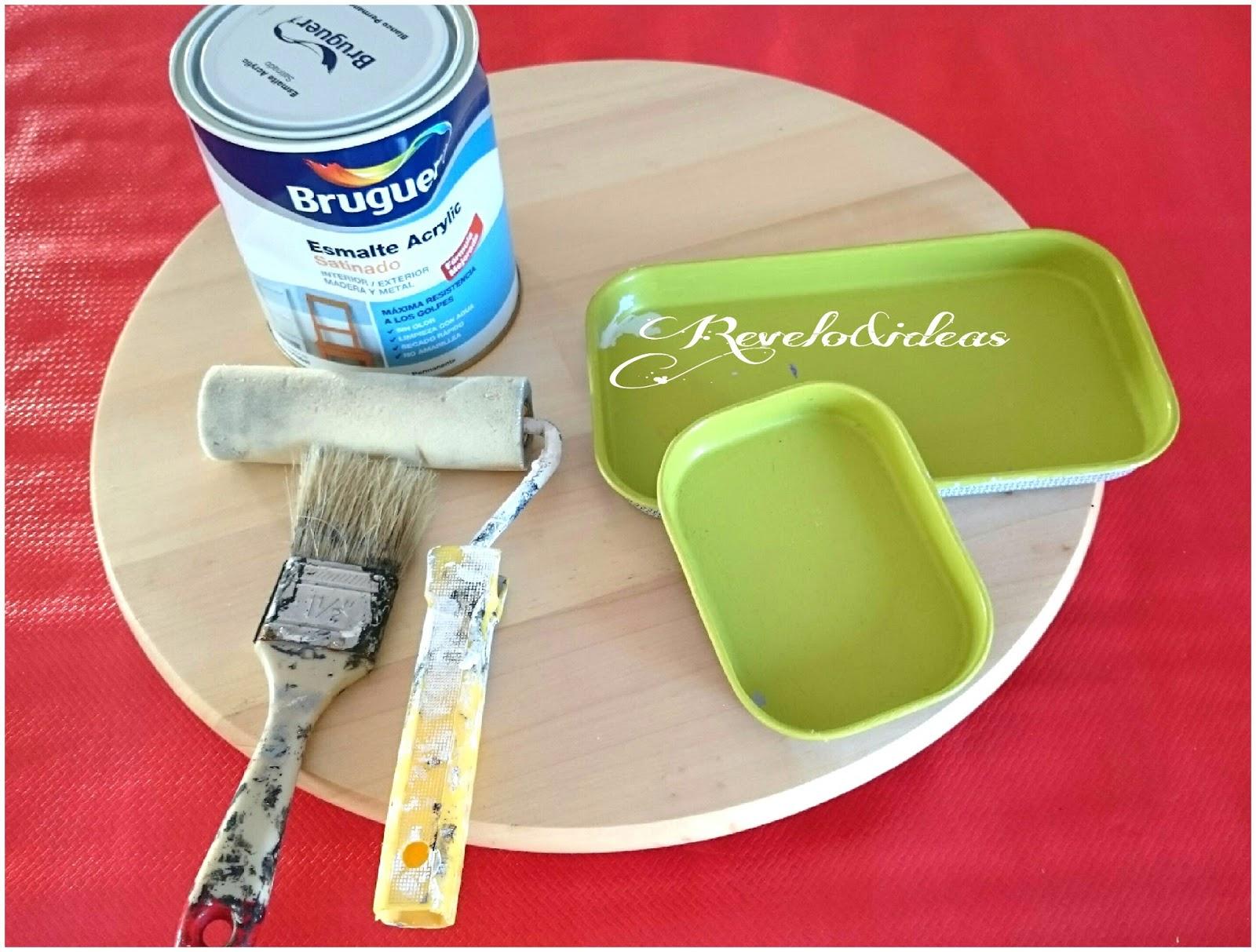 Revelo & ideas low cost: Como pintar unas bandejas doityoursef