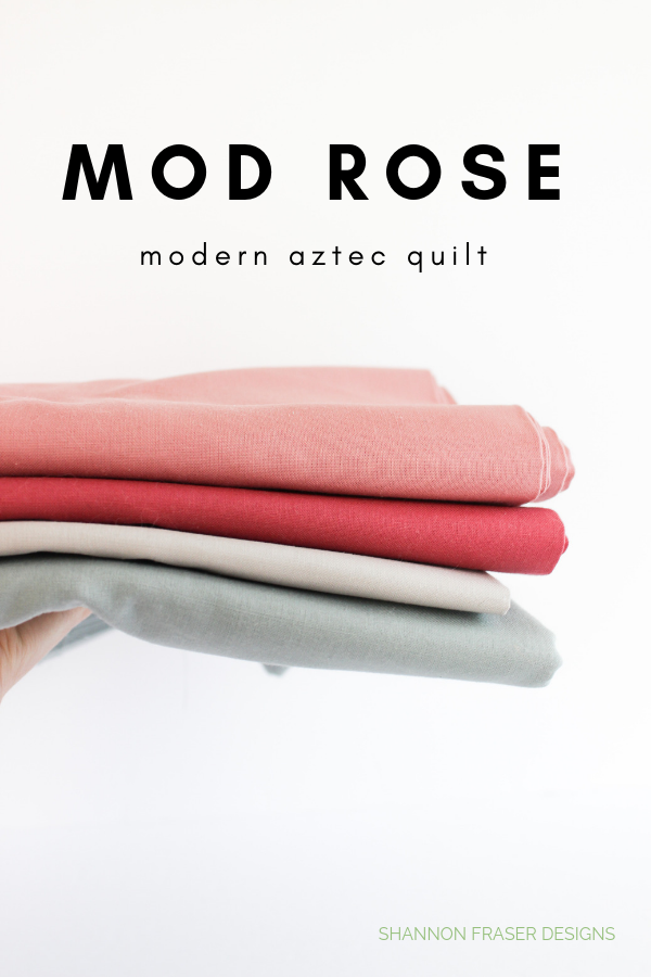 Mod Rose fabric pull for Modern Aztec quilt by Shannon Fraser Designs