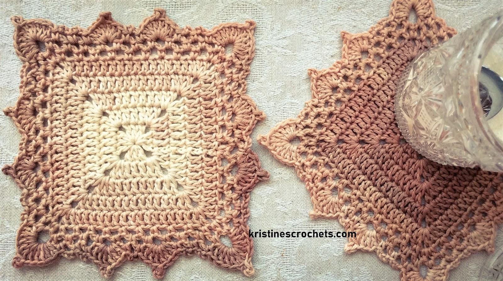 image regarding Free Printable Crochet Granny Square Patterns titled KristinesCrochets : Crochet Granny Sq. Coaster Absolutely free Habit