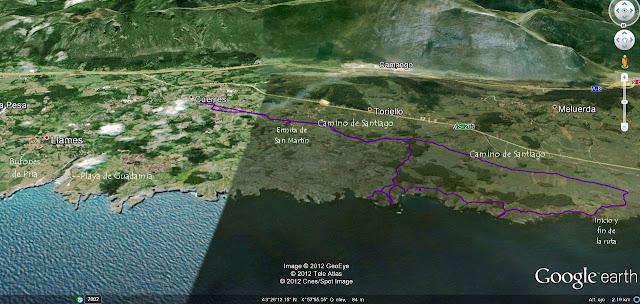 Mapa Ruta costera Ribadesella