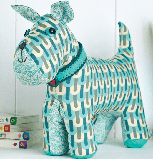 Toy patterns: Malcolm the dog sewing pattern