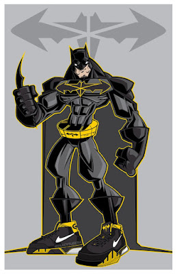 "Batman ""The Protro Knight"" Print by Tracy Tubera"