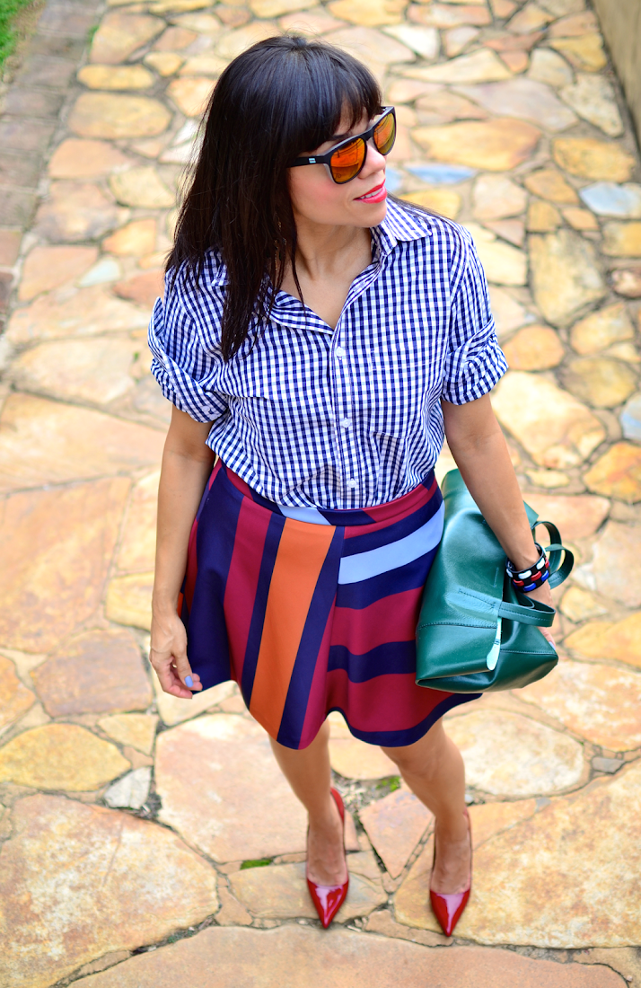 Gingham Shirt Outfit Idea