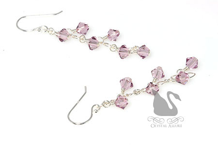 June Birthstone: Elegant Cascading Crystal Earrings (EBC105)