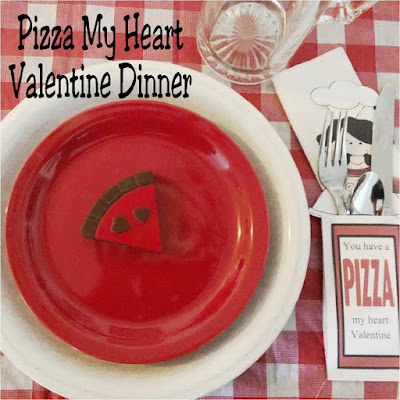 You have a Pizza my heart Valentine! Show your family how much you love them this Valentine's day with a fun and super simple Pizza Valentine dinner party.  With simple items you already own, you can throw together a fun and memorable dinner tonight.