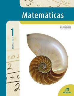 Libro Matemáticas 1º Bachillerato Editex