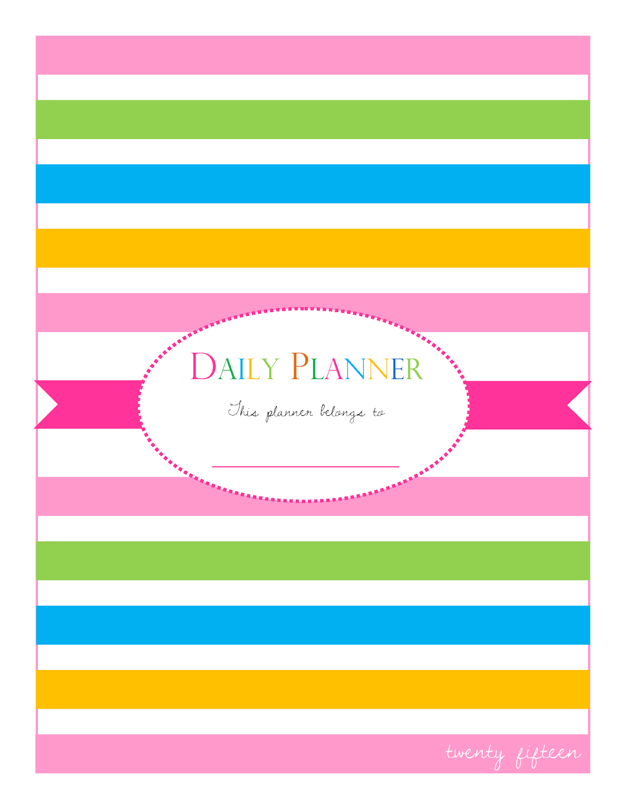 Daily Planner 2014 Printables: It's all about writing your plans and ...