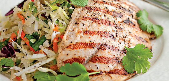 How to Grilled Tilapia on Cilantro Jalapeno Slaw