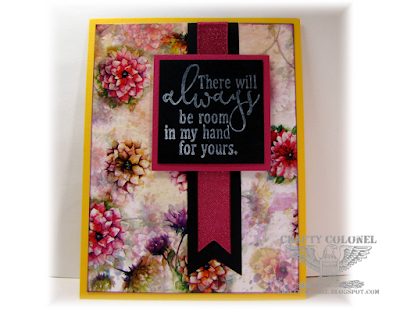Crafty Colornel Donna Nuce for Cards in Envy Challenge, Club Scrap Dahlia A2 Card