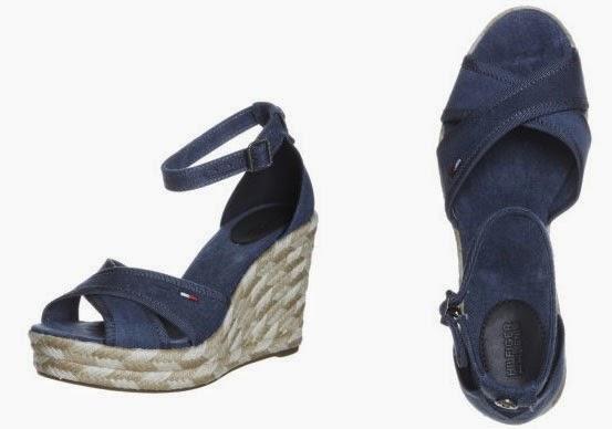 Sandalias de cuña de Hilfiger denim en color azul