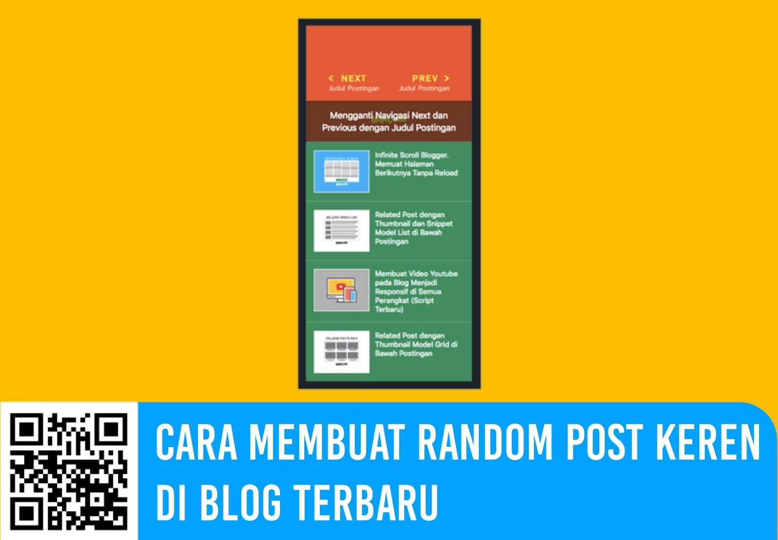 Cara Membuat Random Post Keren di Blog Terbaru