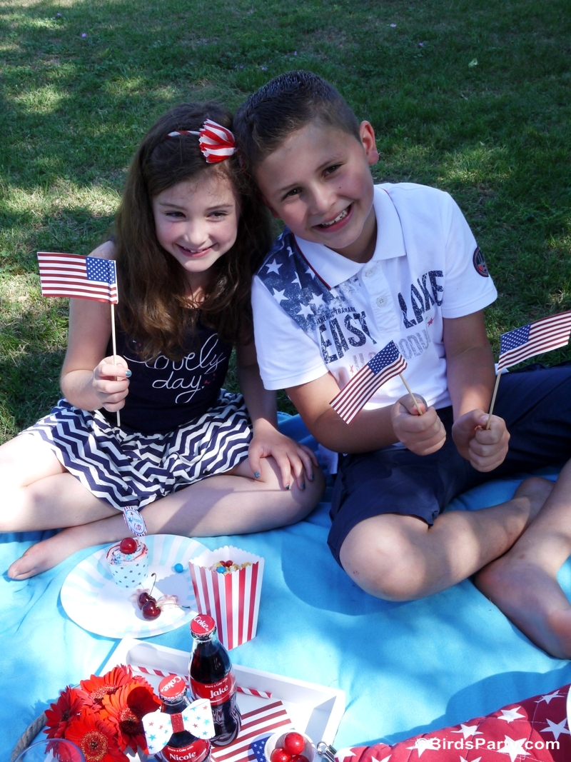 4th of July Garden Picnic Party Ideas - BirdsParty.com