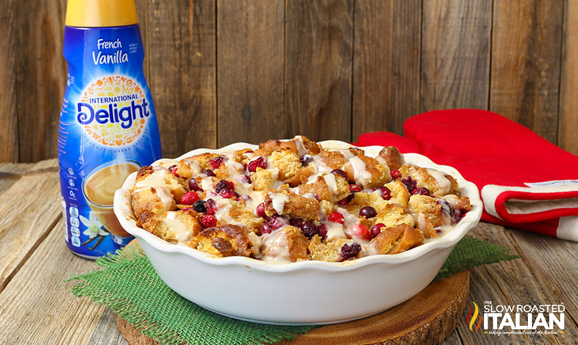 Cranberry Maple Donut Bread Pudding