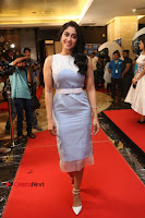 Actress Regina Candra Stills in Beautiful Sleeveless Blue Short Dress at SIIMA Short Film Awards 2017 .COM 0057.JPG