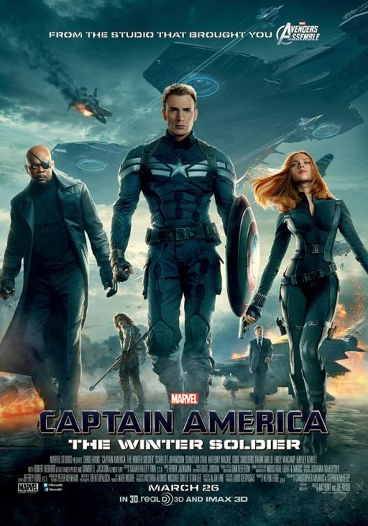 Captain America The Winter Soldier Final UK Theatrical One Sheet Movie Poster