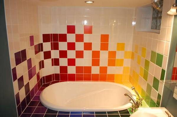 Home Quotes: RAINBOW TILES PAINT IDEAS BATHROOMS