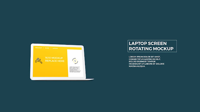 Free PowerPoint Template with Rotating Laptop Screen Mockup Slide 5