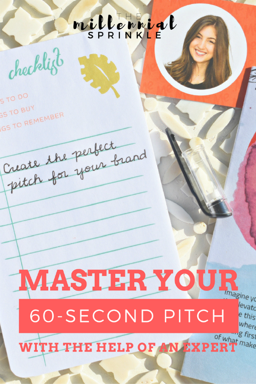 How to Master the Perfect 60-Second Elevator Pitch for You and Your Personal Brand - The Millennial Sprinkle