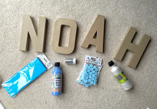 3d Mache letter decoration baby room craft idea