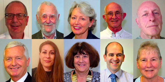 North Mymms Parish Councillors March 2019 Top: Howard Weintrob, William Storey, Jacqui Boulton, Tony Ginsberg, Tony Green Bottom: Stephen Boulton, Mia Americanos-Molinaro, Linda Saffer, James Bentall, Teresa Travell Images courtesy of North Mymms Parish Council