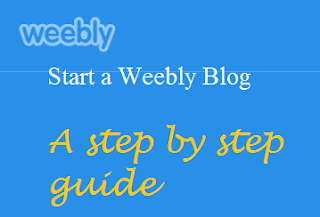Start a weebly blog