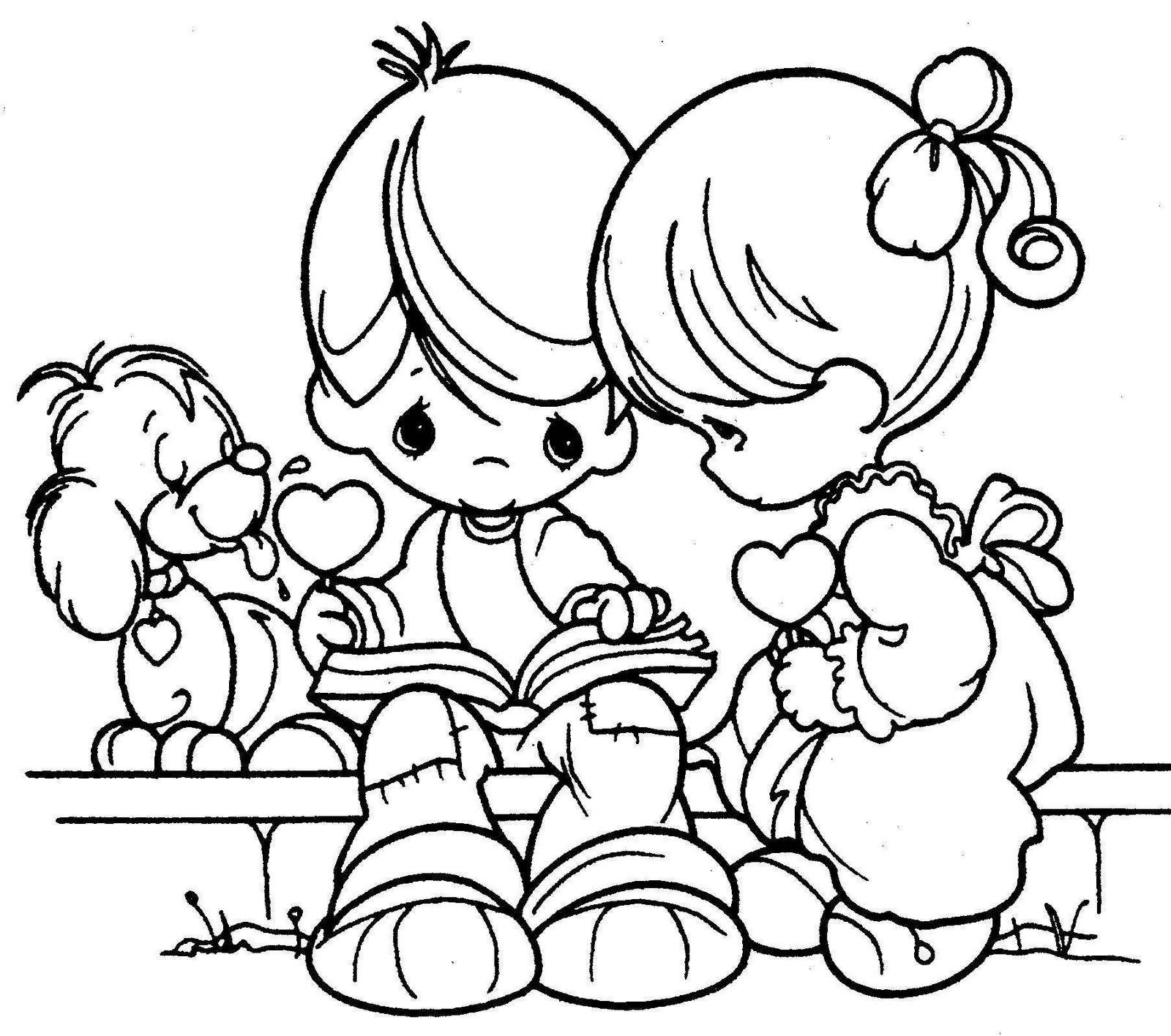 Descargar Dibujos Para Colorear De Amor Y Amistad